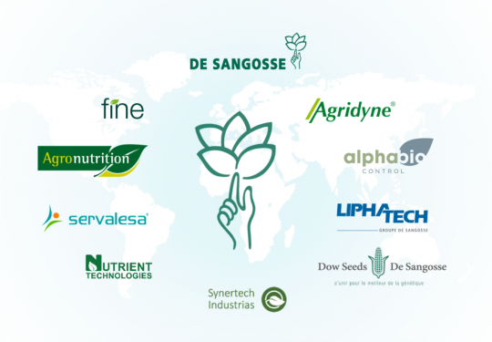 DE SANGOSSE: Supplier innovative in the market for crop